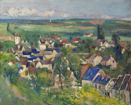 Auvers, Panoramic View (ca. 1873–1875) by Paul Cézanne. Original from The Art Institute of Chicago.  Free Photo