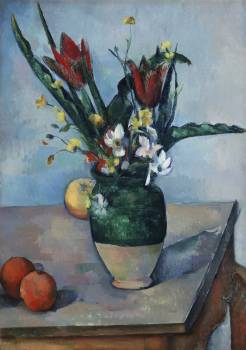 The Vase of Tulips (ca. 1890) by Paul Cézanne. Original from The Art Institute of Chicago.  Free Photo