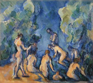 Bathers (Baigneurs) (ca. 1902–1904) by Paul Cézanne. Original from Original from Barnes Foundation.  #426015