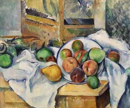 A Table Corner (Un coin de table) (ca. 1895) by Paul Cézanne. Original from Original from Barnes Foundation.  #426016