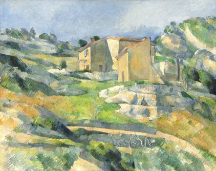 Houses in Provence: The Riaux Valley near L'Estaque (ca. 1883) by Paul Cézanne. Original from The National Gallery of Art.  #426018
