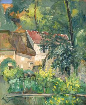House of Père Lacroix (1873) by Paul Cézanne. Original from The National Gallery of Art.  #426023