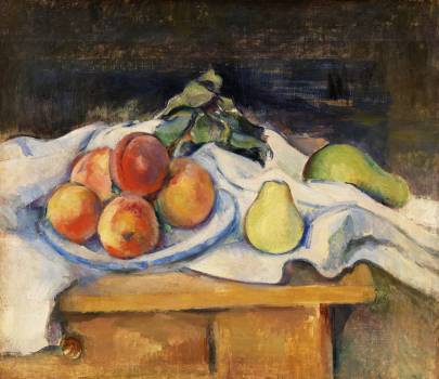Fruit on a Table (Fruits sur la table) (ca. 1890–1893) by Paul Cézanne. Original from Original from Barnes Foundation.  #426025