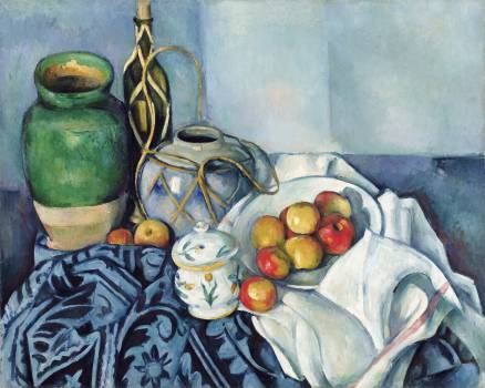 Still Life with Apples (ca. 1893–1894) by Paul Cézanne. Original from The Getty.  #426034