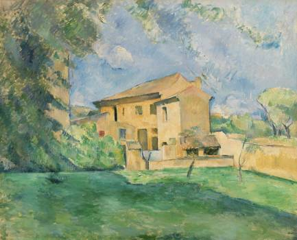 The Farm at the Jas de Bouffan (La Ferme au Jas de Bouffan) (ca. 1887) by Paul Cézanne. Original from Original from Barnes Foundation.  #426036