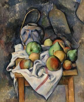 Ginger Jar (Pot de gingembre) (ca. 1895) by Paul Cézanne. Original from Original from Barnes Foundation.  Free Photo