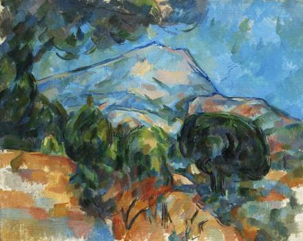 Mount Sainte–Victoire (ca. 1904) by Paul Cézanne. Original from The Cleveland Museum of Art.  #426039