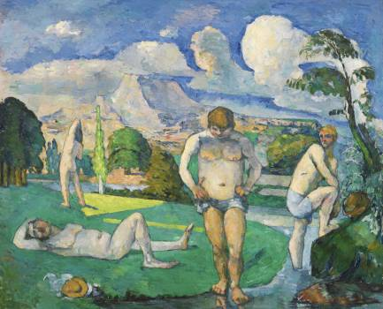 Bathers at Rest (Baigneurs au repos) (ca. 1876–1877) by Paul Cézanne. Original from Original from Barnes Foundation.  #426042