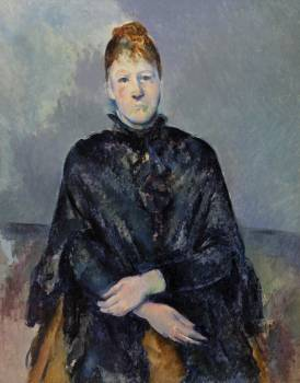 Madame Cézanne (Portrait de Madame Cézanne) (ca. 1888–1890) by Paul Cézanne. Original from Original from Barnes Foundation.  Free Photo