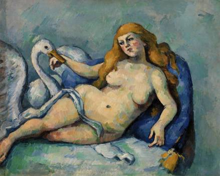Leda and the Swan (Léda au cygne) (ca. 1880) by Paul Cézanne. Original from Original from Barnes Foundation.  #426045