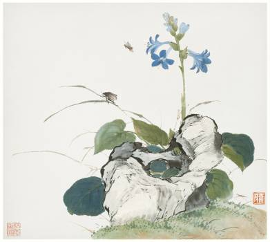 Insects and Flowers (Qing dynasty ca. 1644–1911) by Ju Lian. Original from The Getty.  #426051