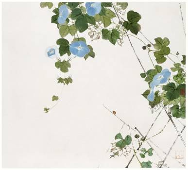 Insects and Flowers (Qing dynasty ca. 1644–1911) by Ju Lian. Original from The Getty.  #426052