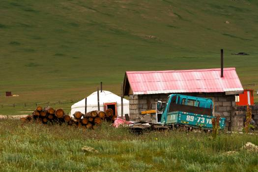 Traditional House in Mongolia - Free Image For Commercial Use Free Photo