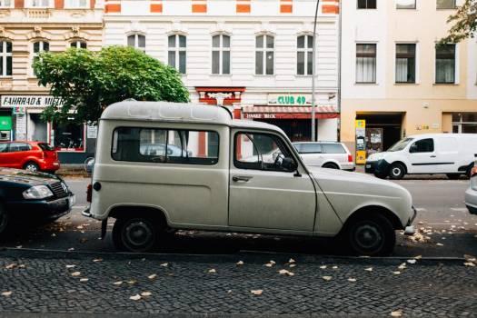 Vintage Van Parked Free Photo