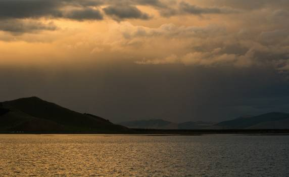 Evening Lake with a Mountain in the Background - Free Image For Commercial Use Free Photo