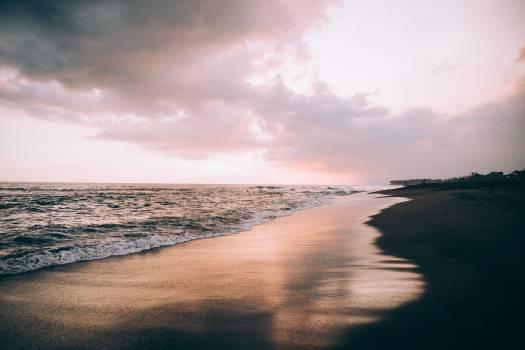 Beach Sunset Pink Free Photo Free Photo