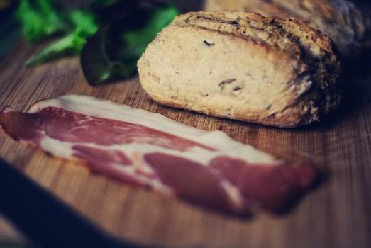 Breakfast meat roll lettuce #42688