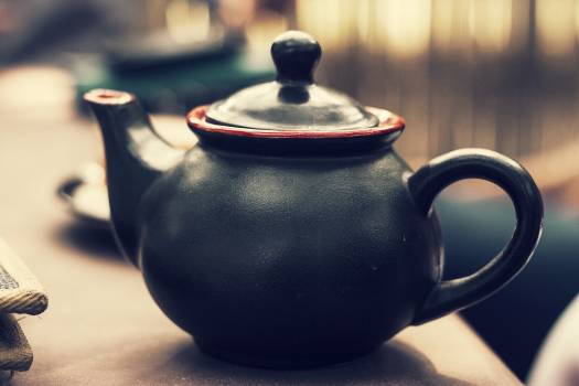 Black Ceramic Teapot #42792