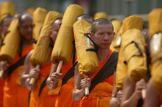 People orange meeting ceremony Free Photo