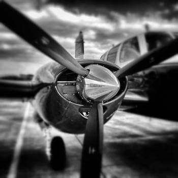 Propeller in a Gray Scale Photography #43137
