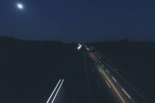 Cars on Road in Long Exposure Photo #43309