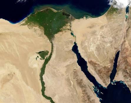 Egypt land aerial view nile Free Photo