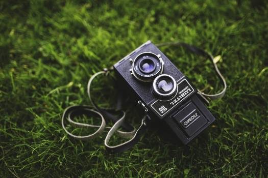 Old camera on the grass #43412