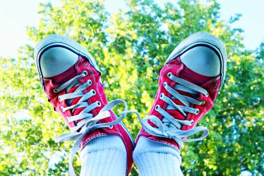 White and Red Sneakers #43948