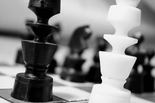Black and white game match chess Free Photo