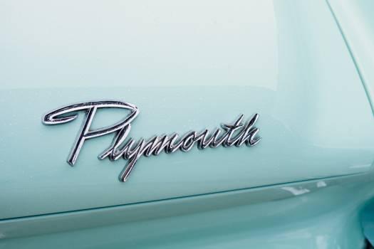 Plymouth White Vintage Automobile #44060