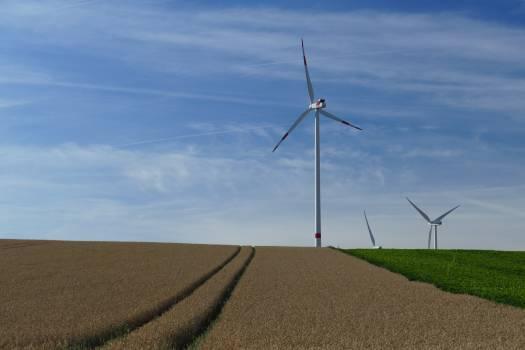 White Windmills Free Photo