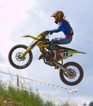 Person Doing Stunt in Motocross Dirt Bike Free Photo