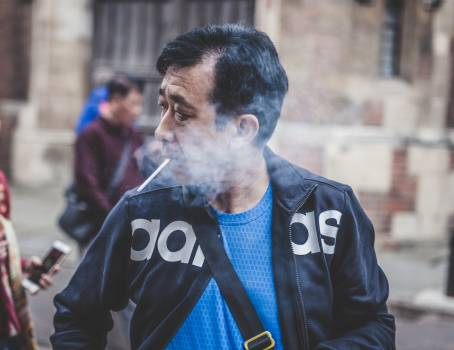 Cigarette close up jacket man #44450