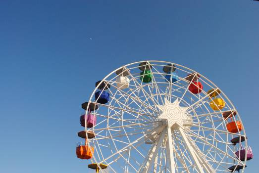 Ferris wheel funfair colorful colourful #44505
