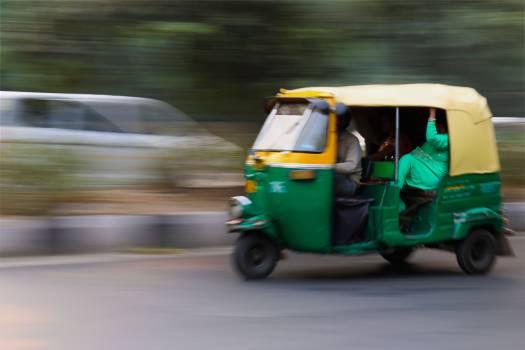 Green and Yellow 3 Wheeled Vehicle #44796