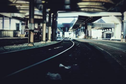 Black Steel Train Railways Free Photo