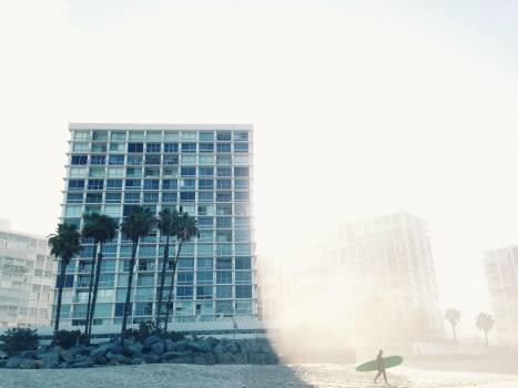 Vacation beach hotel surfing Free Photo