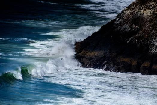 Big Waves Beside Seashore Beside Black Rock #46213
