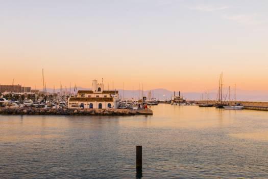 Landscape sunset port harbour #46471