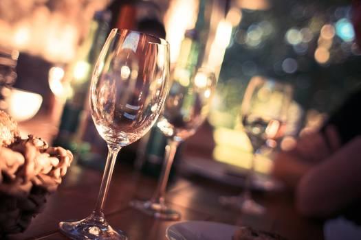 Wine Glass on Restaurant Table #46589