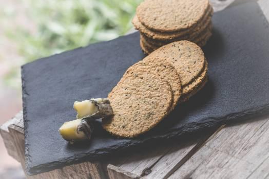 Cookies on Black Textile Free Photo