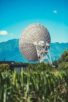 White Parabolic Dish Satelitte #47992