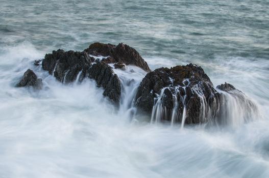 Rocks stones water waves #48307
