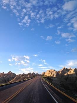 Road canyon sky Free Photo