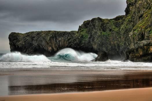 Rocks wave coast #48696