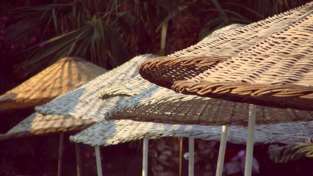 Brown Woven Umbrella #49288