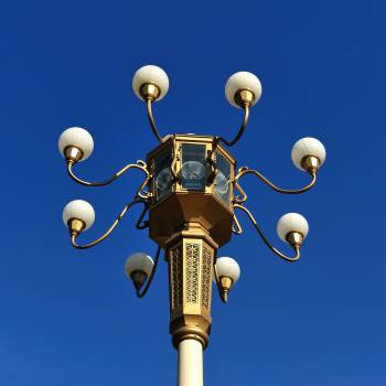 Brown Metal Street Lamp Under Clear Blue Sky during Daytime Free Photo