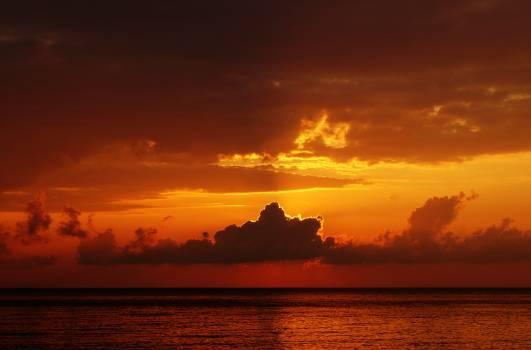 Gray Sky Clouds over Sea #49355