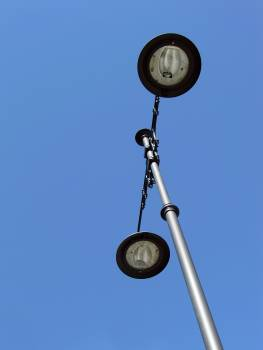 Black and Silver Street Lamp Post #49705