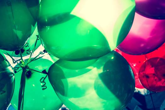 Landscape Photo Of Green and Red Balloons #49720